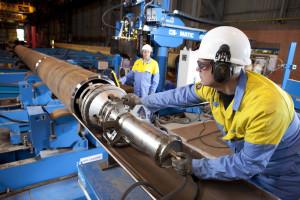 17/09/2012 Hartlepool - new machinery at TATA Steel Hartlepool