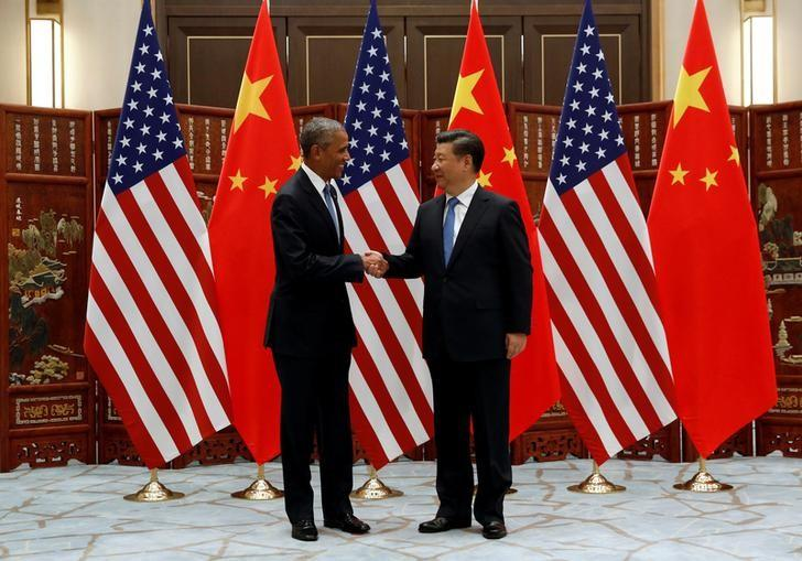 Obama meets Xi Jinping during the summit.