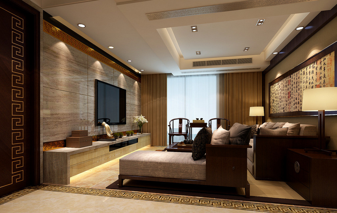 interior-design-of-high-end-chinese-living-room